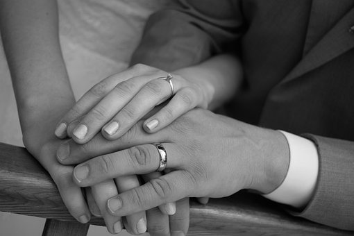 Wedding Rings, Couple, Marriage, Hands