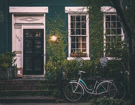 Vintage, House, Bicycles, Home
